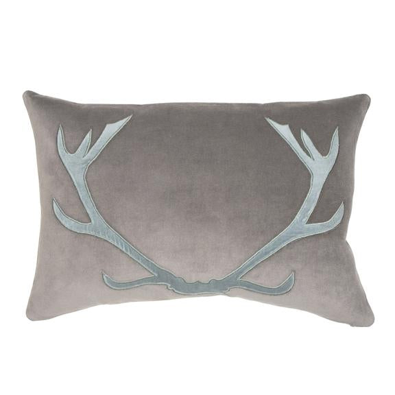 Blitzen Pillow - Blue/Gray