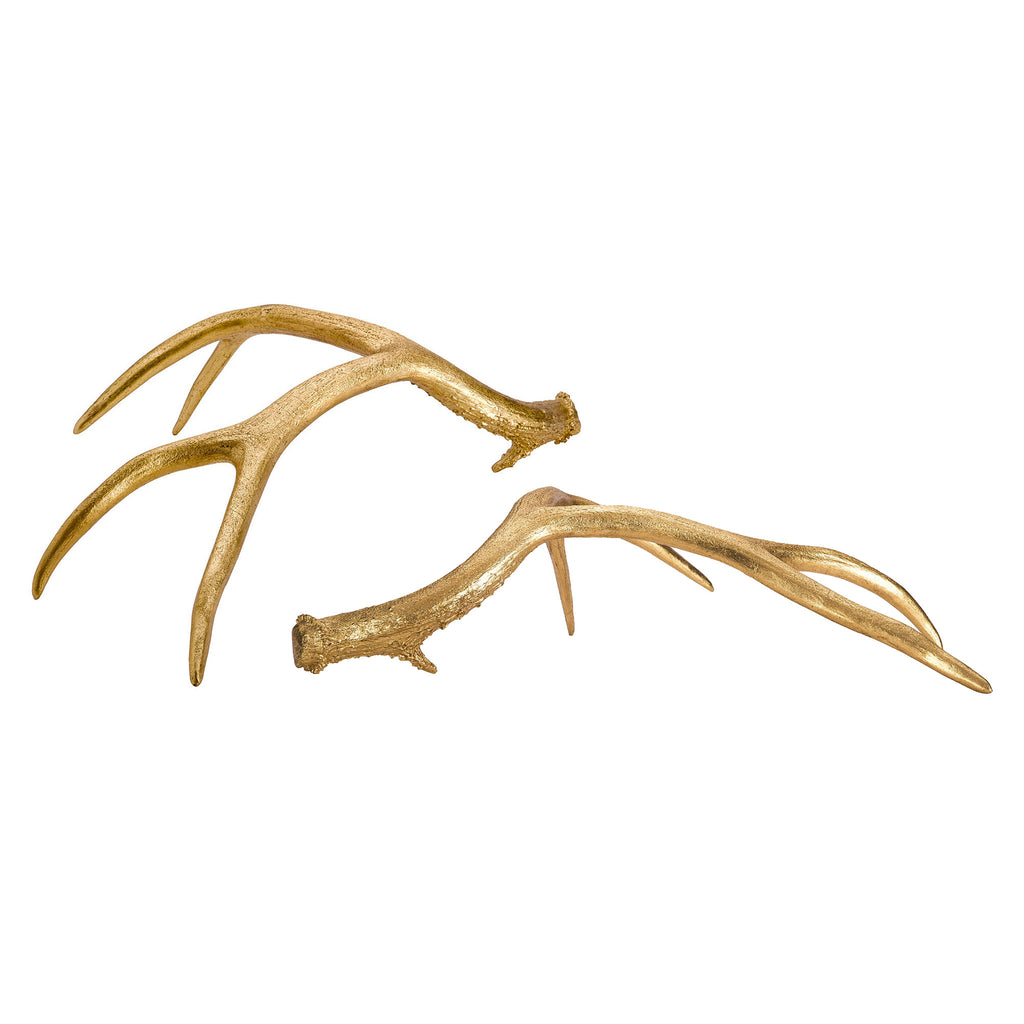 Gold Antlers (set of 2)