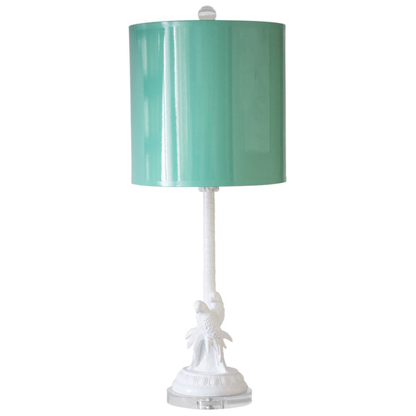 Parrot and Palm Table Lamp