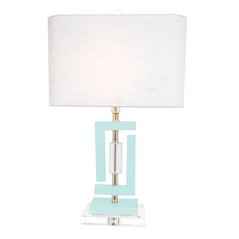 Carlsbad Accent Lamp in White or Blue