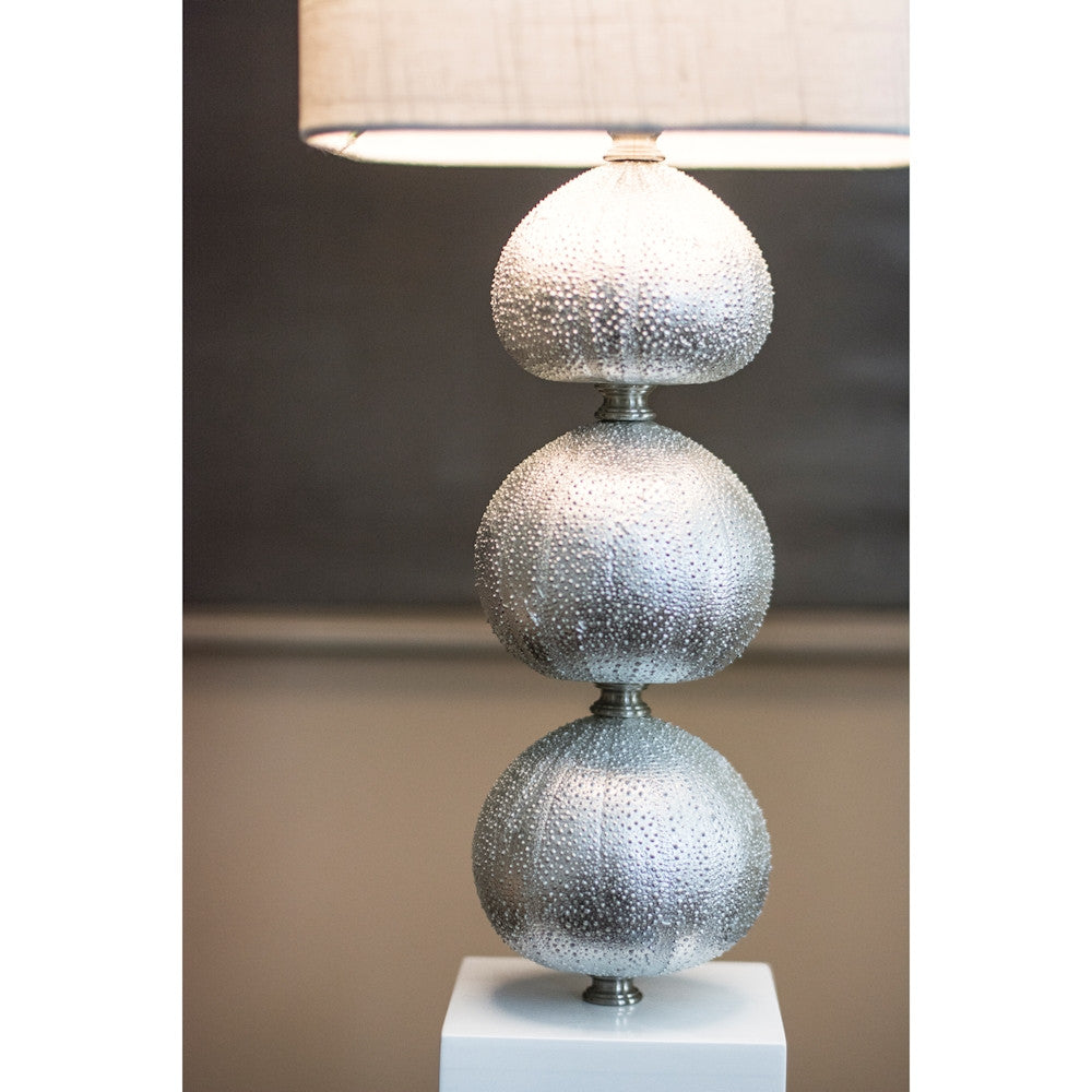 Silver Sea Urchin Buffet Lamp