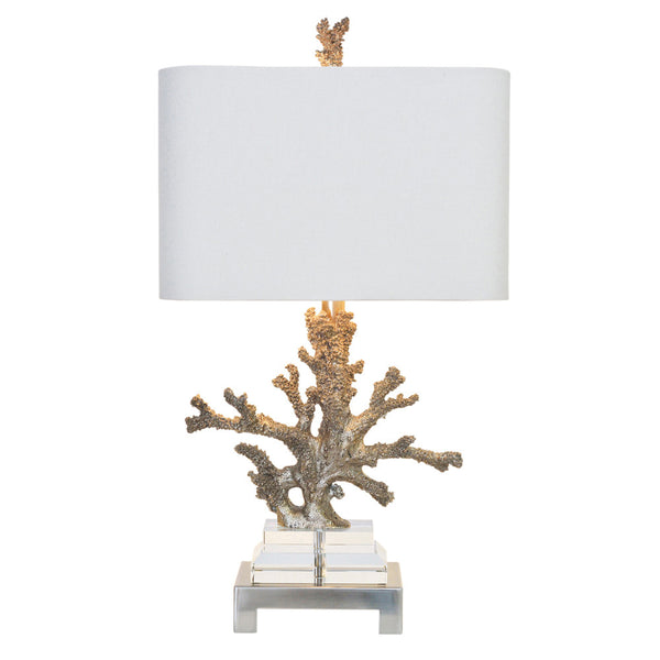 Coral Table Lamp - Silver