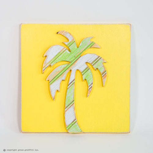 Palm Tree Multi Colored Wall Art
