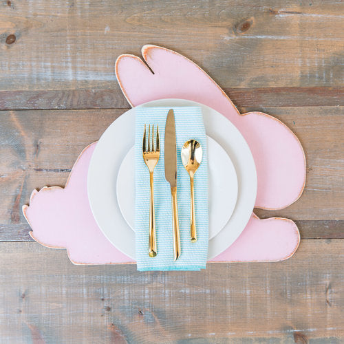 Set of Wooden Bunny Rabbit Placemats