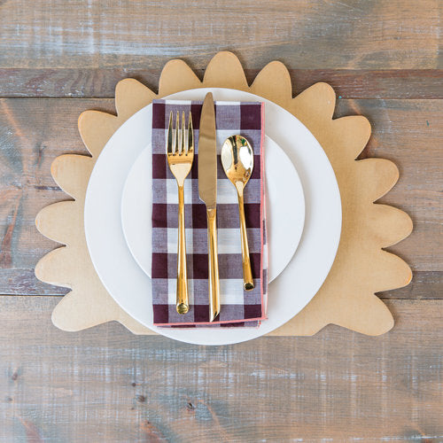 Wooden Turkey Placemats (set of 4)