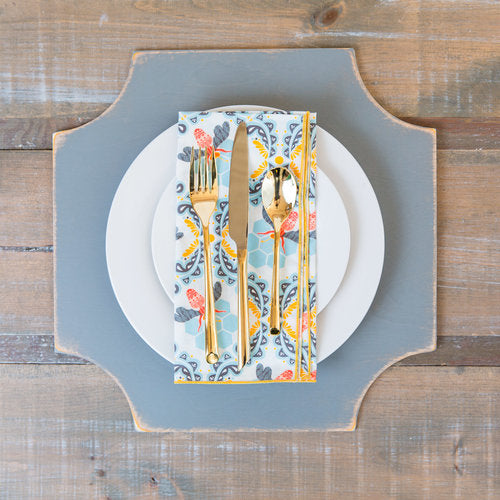 Quatrefoil Charger Placemats - set of 4