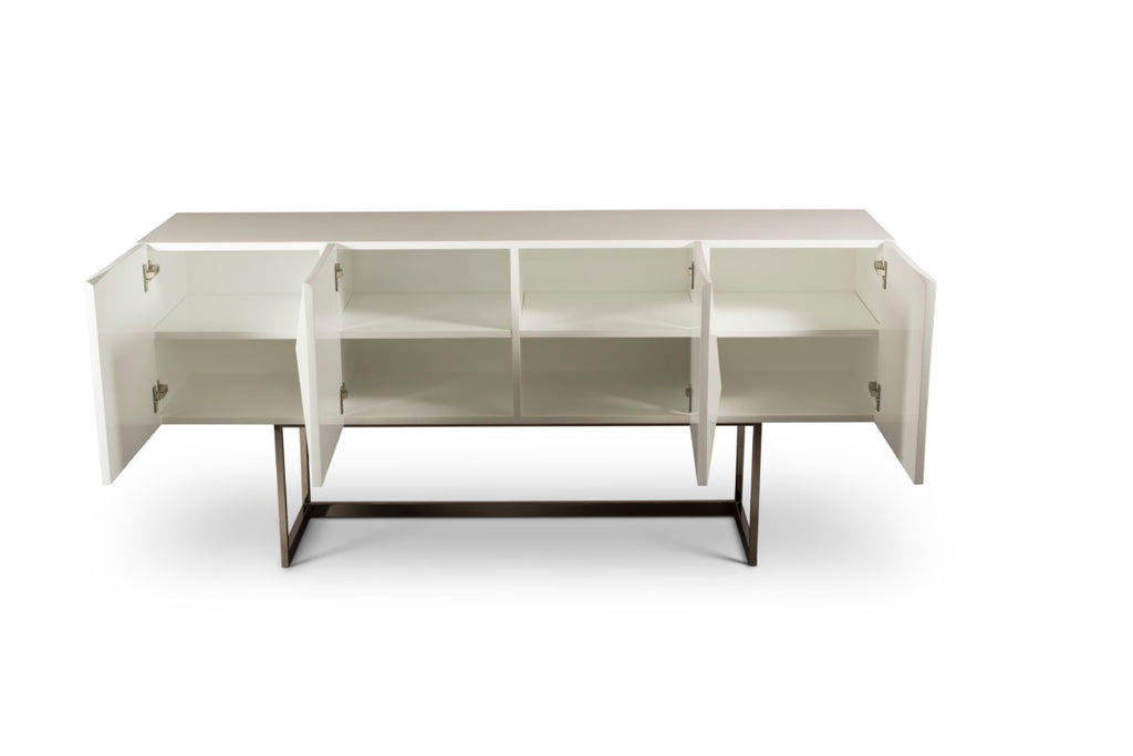 Cube White Buffet Table-