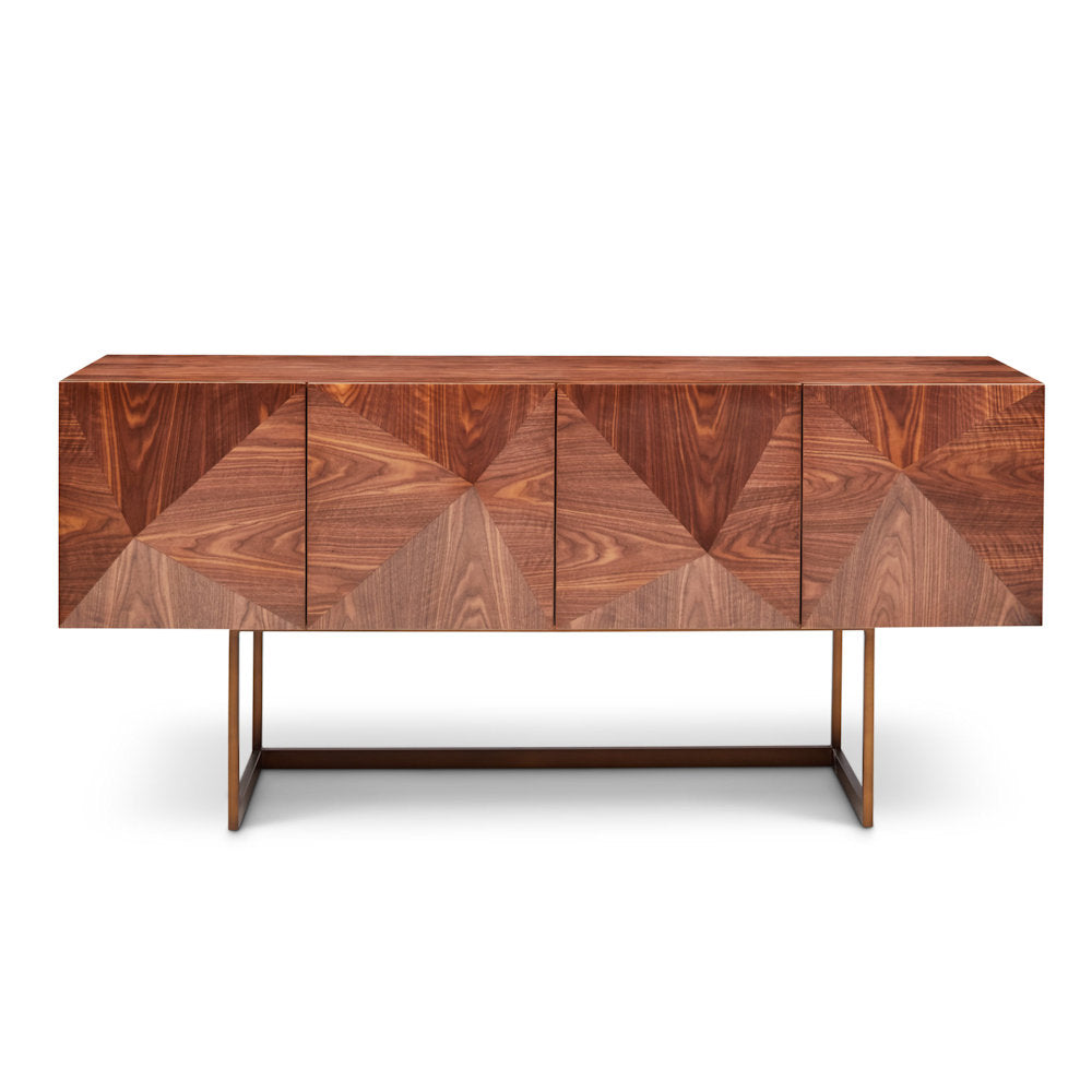 Cube Walnut Buffet Table