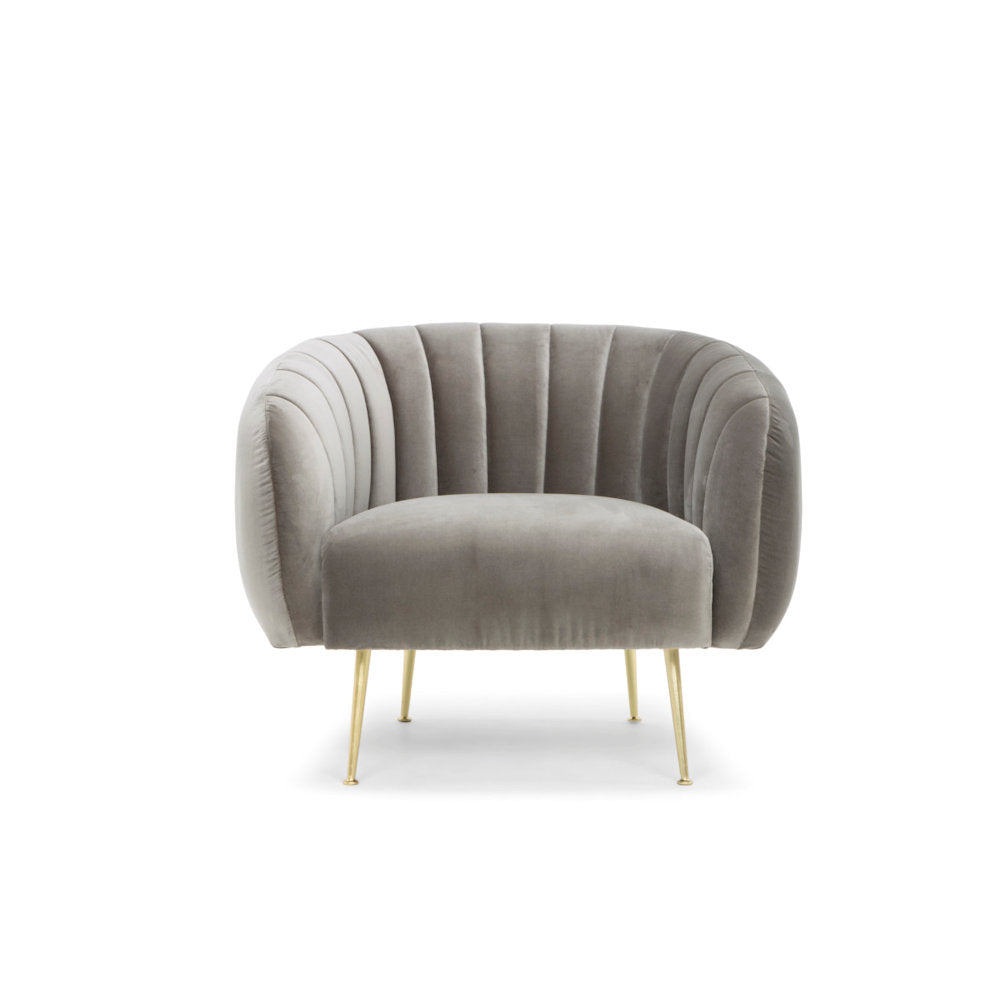 Channeled Accent Chair - Gray