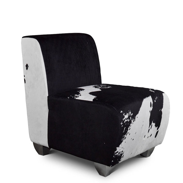 Harmony Chair - Black & White Velvet