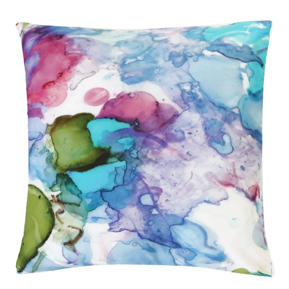 Petunias Outdoor Pillow