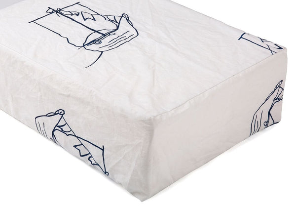 Pirate Ship Crib Sheet - Navy