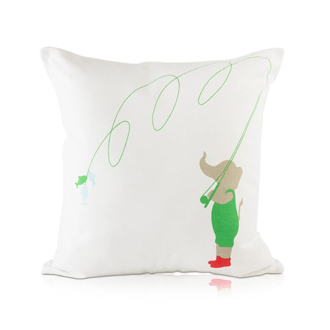 Elephant & Fish Haati Pillow