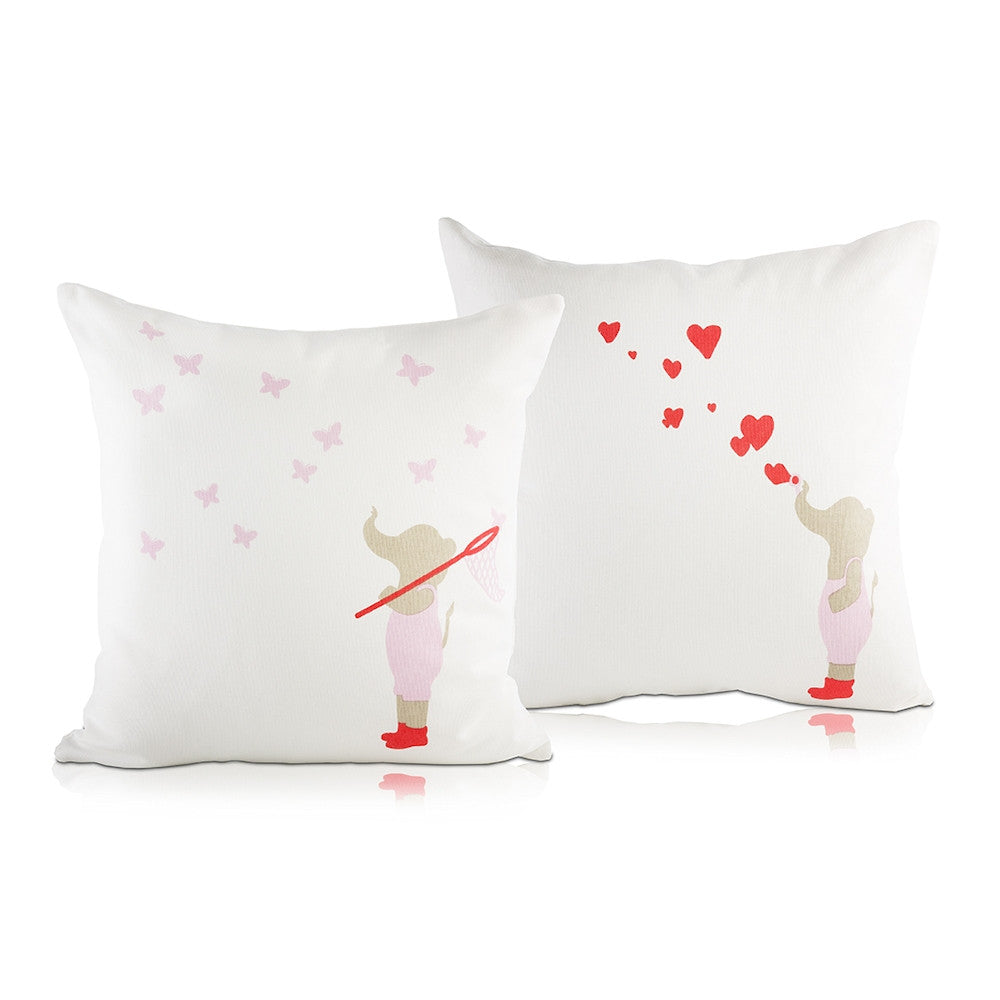 Elephant & Hearts Haati Pillow