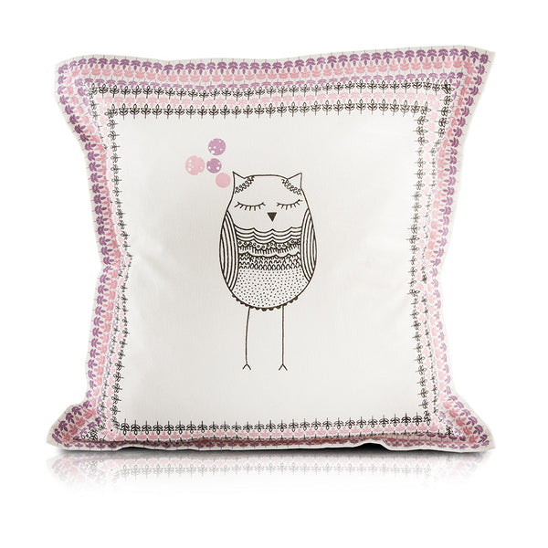 Whoo! Owl Pillow_Pink