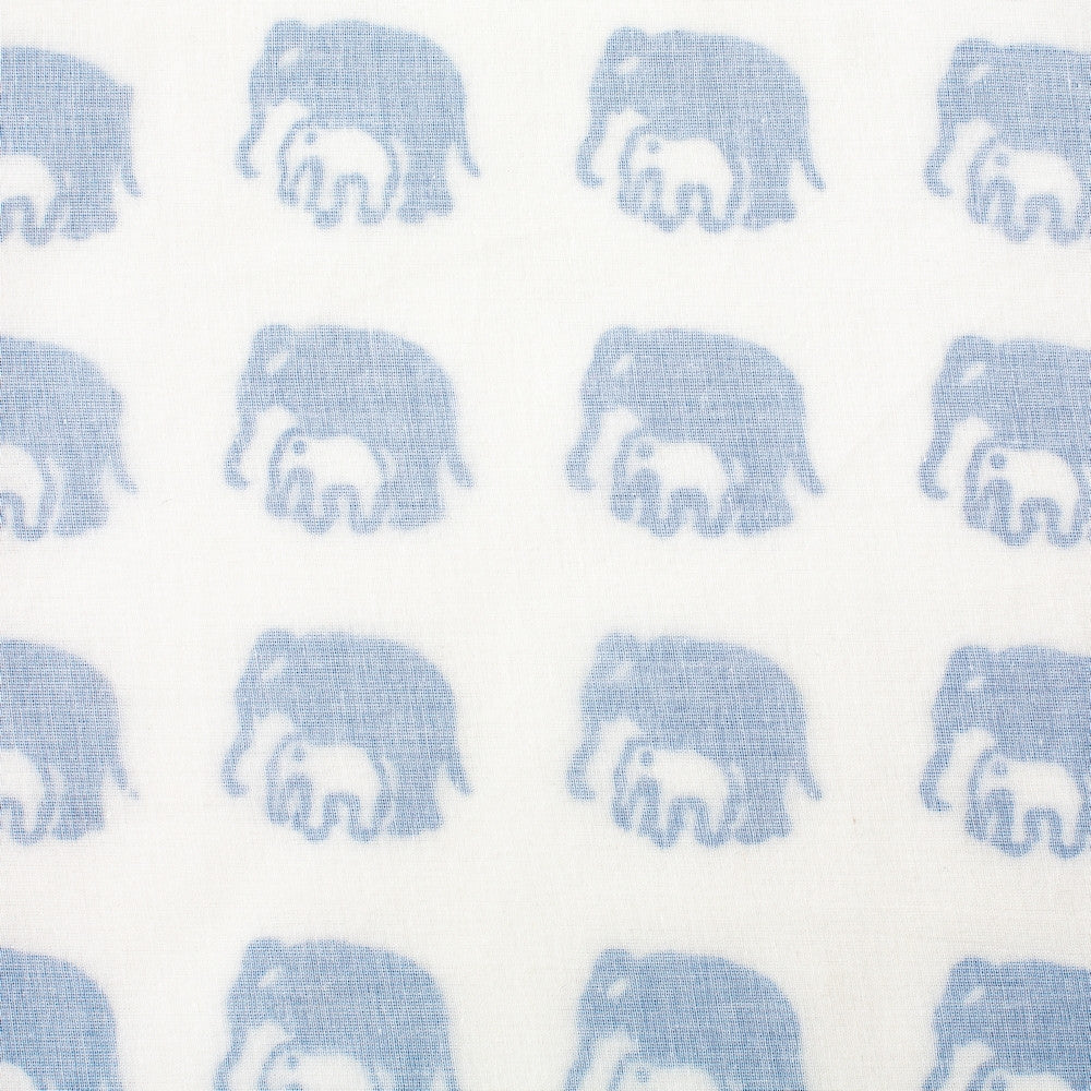 Elephant Tanna Blanket - Blue