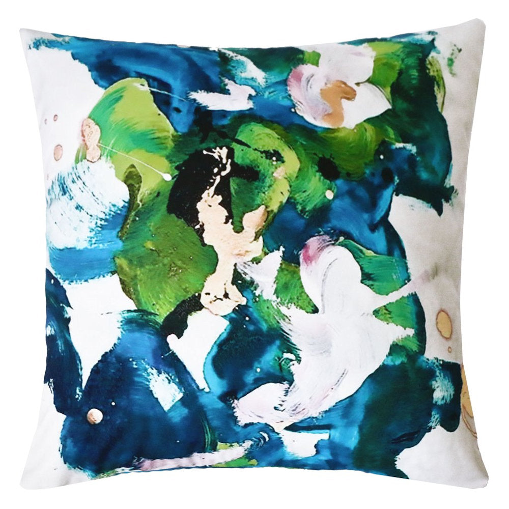 Splish Splash Outdoor Pillow