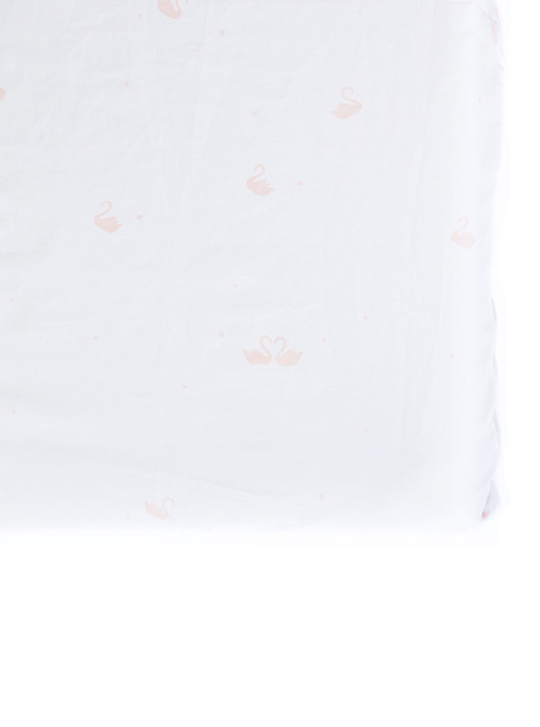 Sweet Swan Fitted Crib Sheet