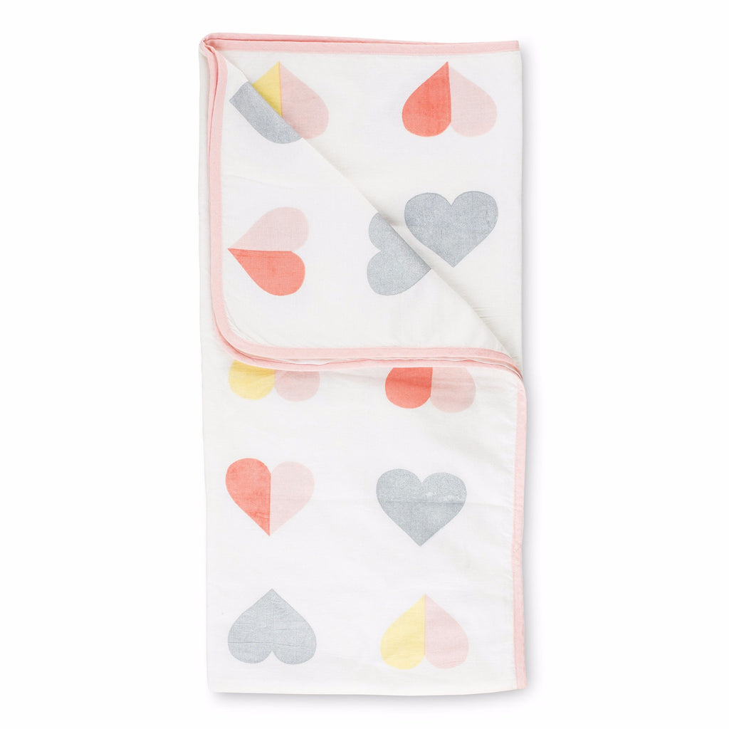 Hearts with Silver Hearts Tanna Blanket