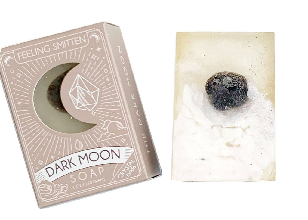 Dark Moon Soap with Black Agate inside