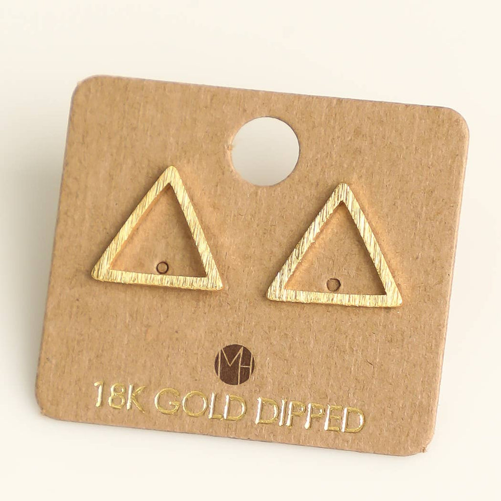Triangle Cutout Stud Earrings