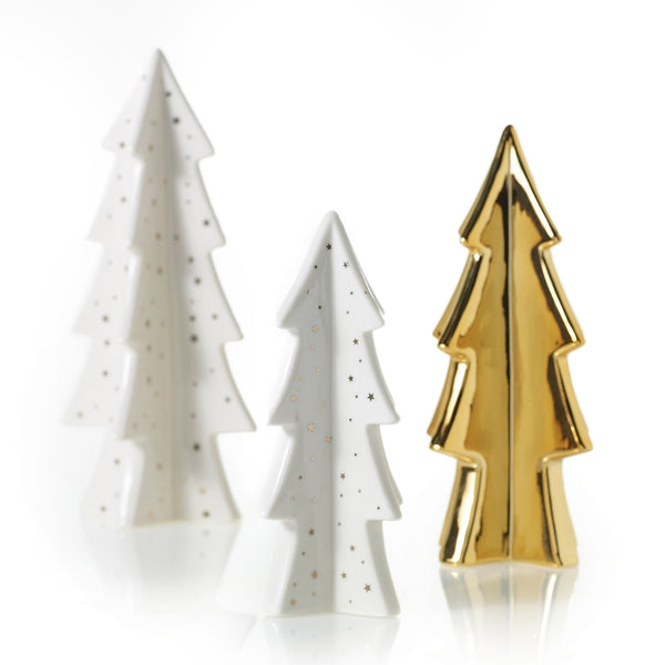 Starlight Porcelain Trees (set of 3)