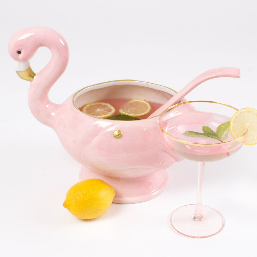 Flamingo Punch Bowl and Spoon - studio model