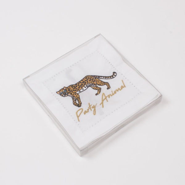 Party Animal Cheetah Cotton Napkins