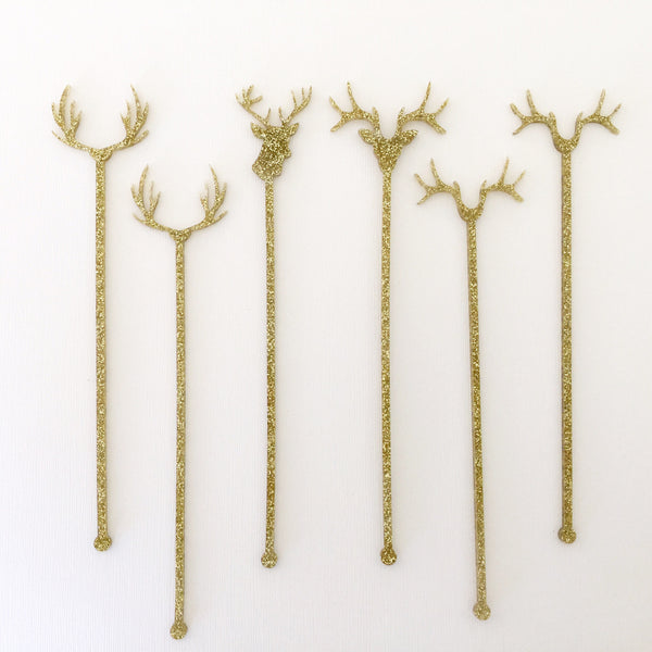 Rustic Chic Antler Stir Sticks Set of 6