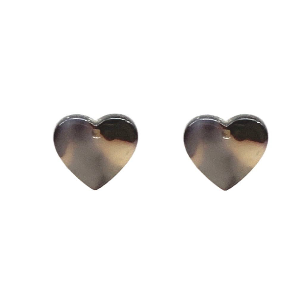 St Armands Designs of Sarasota - Tortoise Stud Heart Earrings