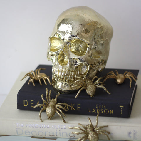 Golden skull decorative object -Studio Model