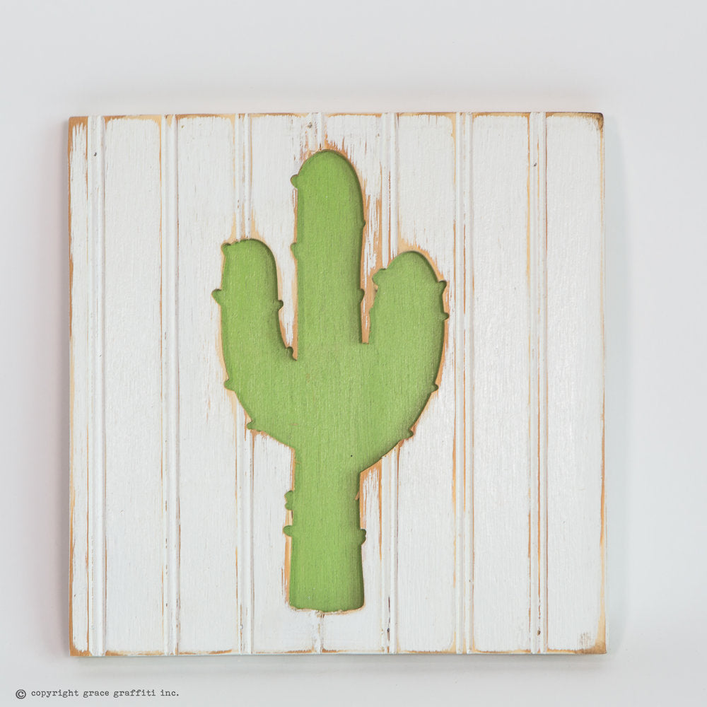 Cactus Silhouette Wall Art