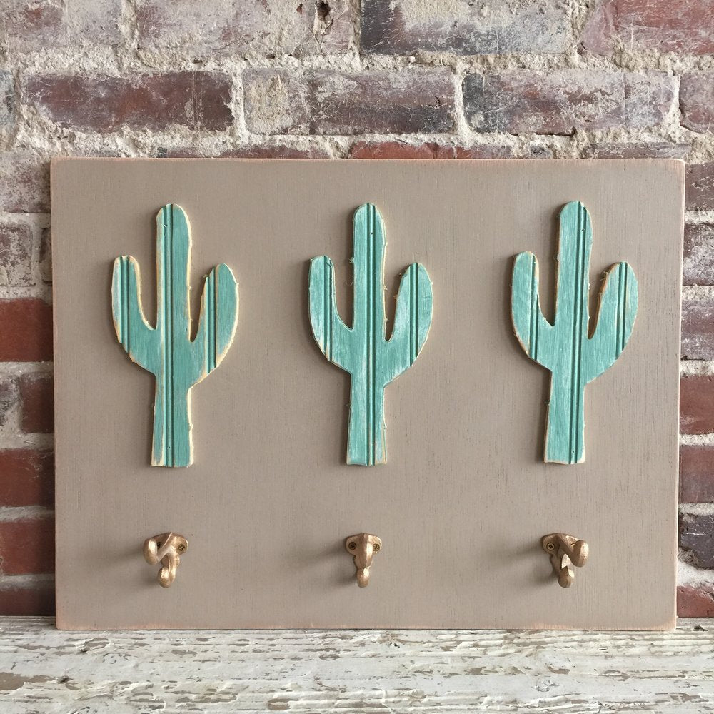 Cactus Wall Art with Hooks
