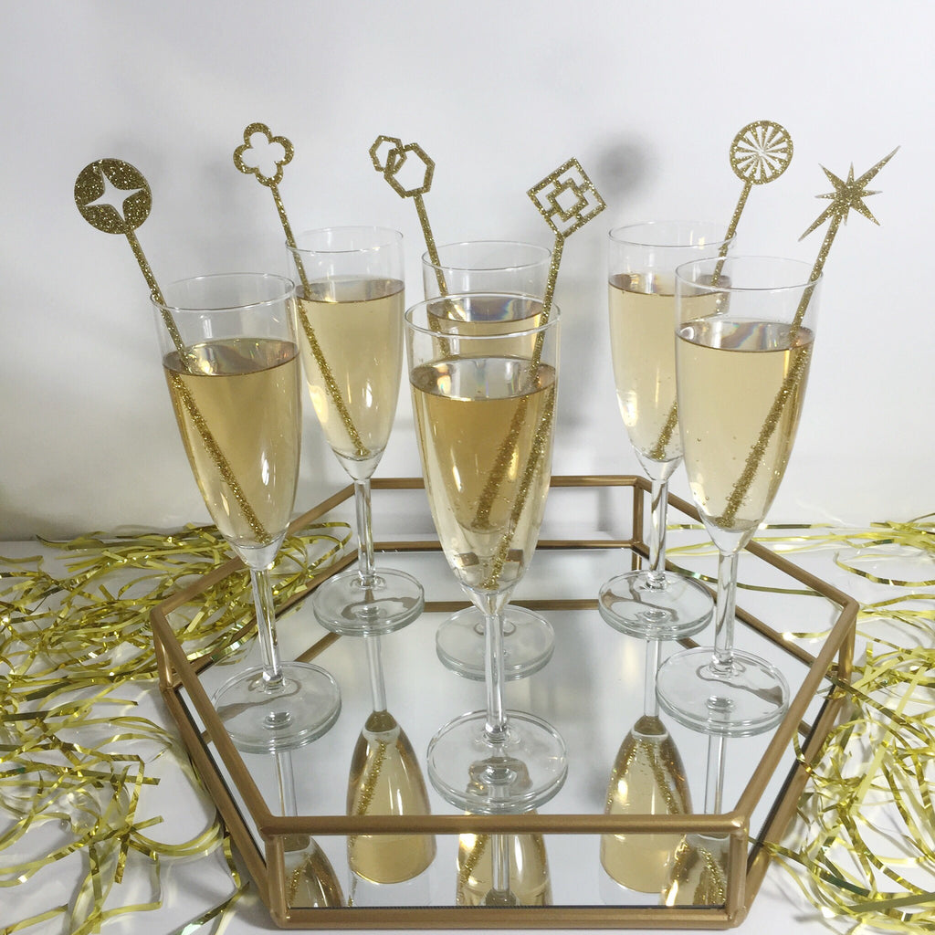 Manor Geometric Luxury Set of 6 Stir Sticks