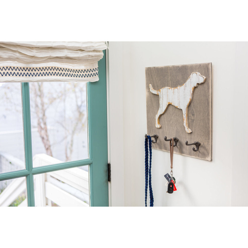 Dog Wall Art with Hooks