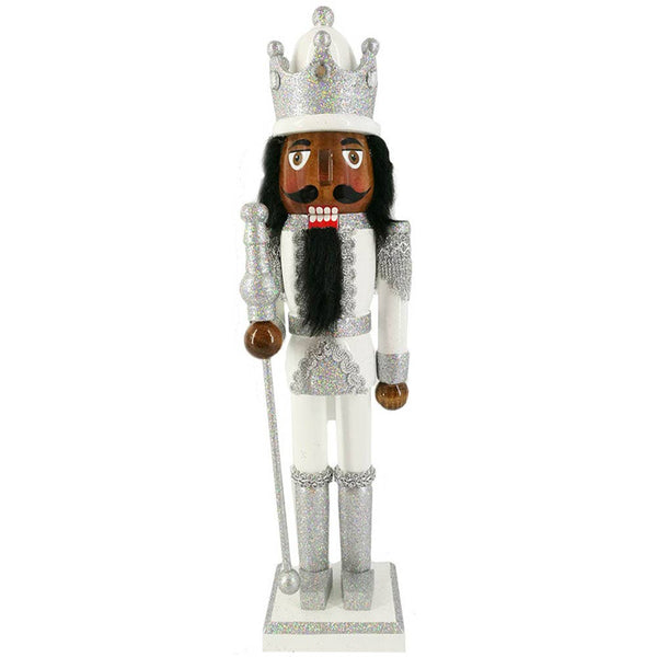 *COMING SOON*  King Nutcracker Silver and White 15""