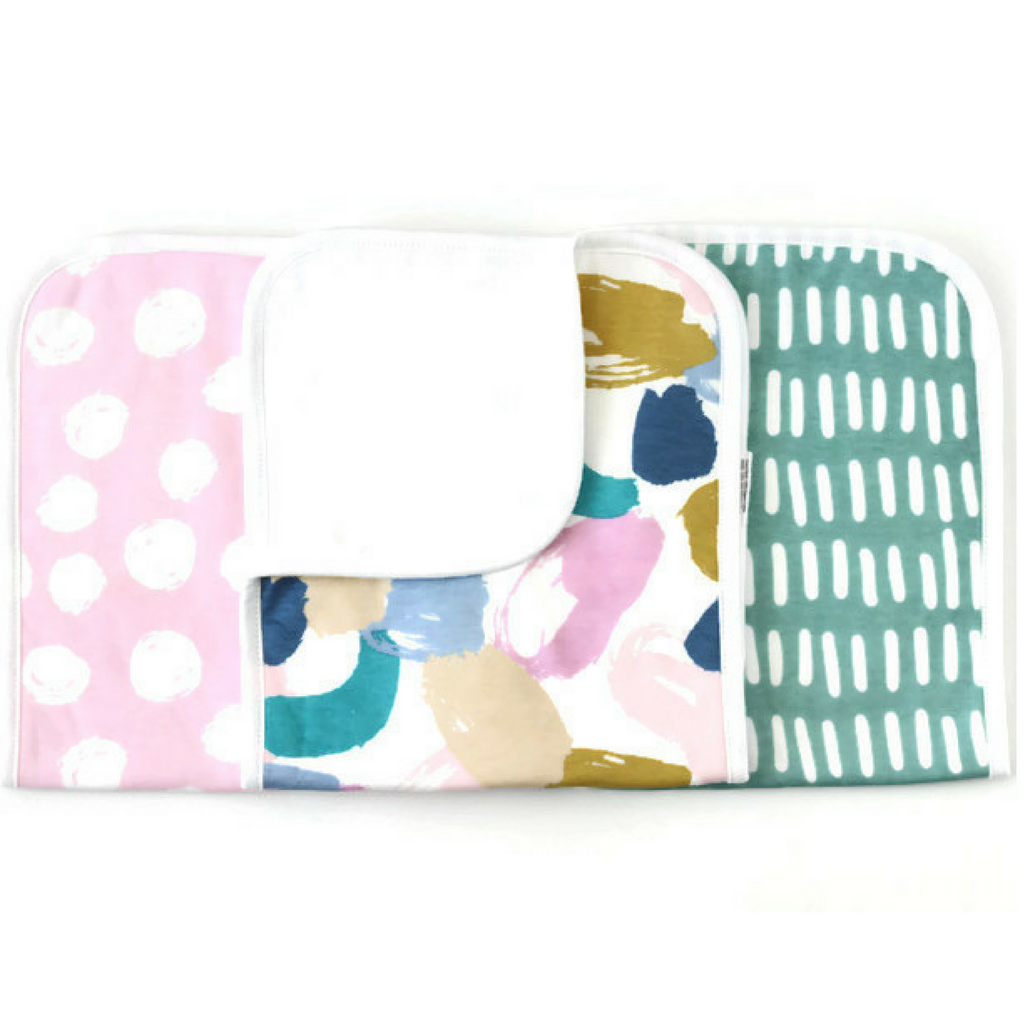 Wonder Baby burp Cloth Set
