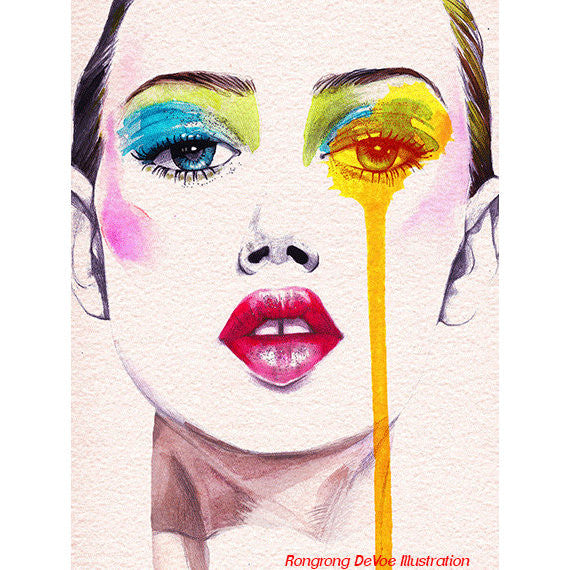 Fashion Model Art Print 8x10