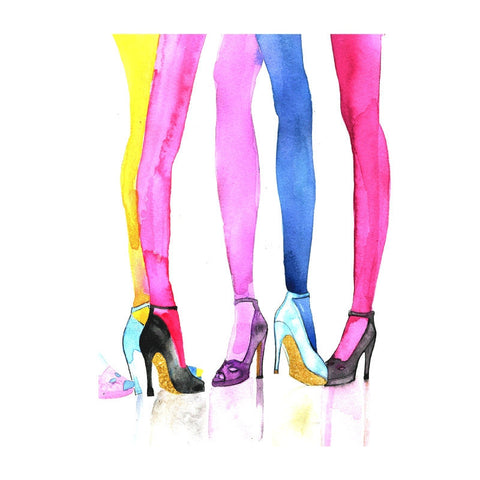 Stockings & Shoes Art Print