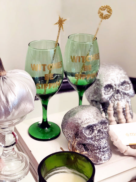 Witches Be Sippin' Wine Goblets (set of 2)