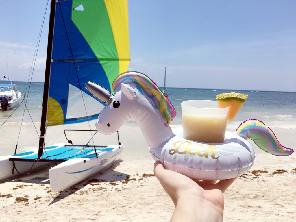 Personalized Unicorn Beverage Boats set of 2