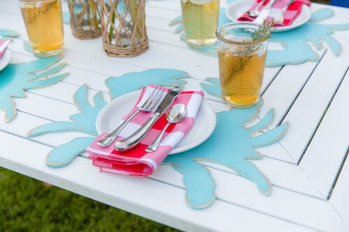 Wooden Crab Placemats - set of 4