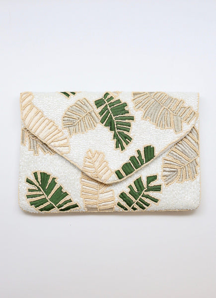 Embellished Palm Fold Over clutch/crossbody