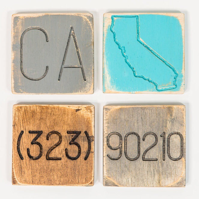 Engraved Local Coasters - set of 4