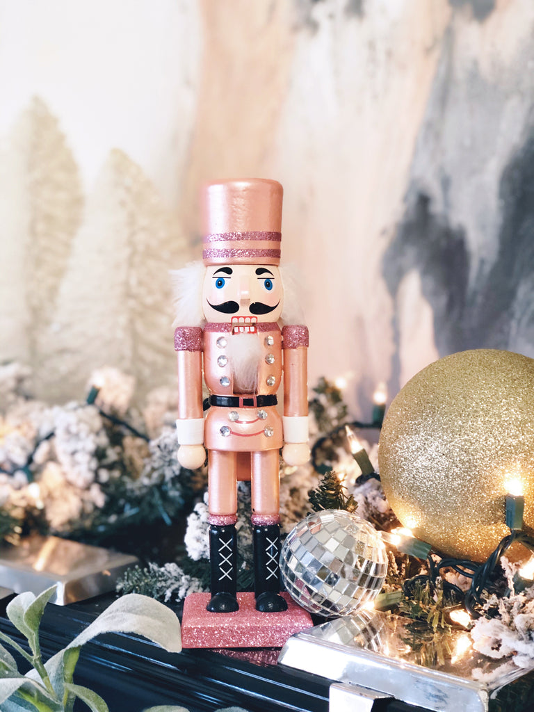 "Rose gold 10"" Nutcracker - studio model"