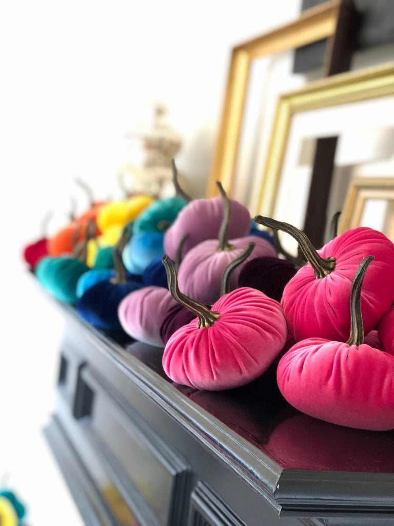 Rainbow Pumpkin Set of 10