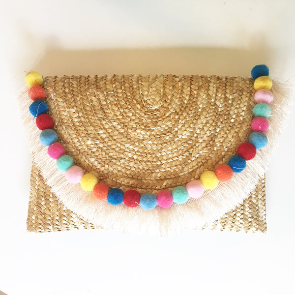Palm Springs Pom Clutch