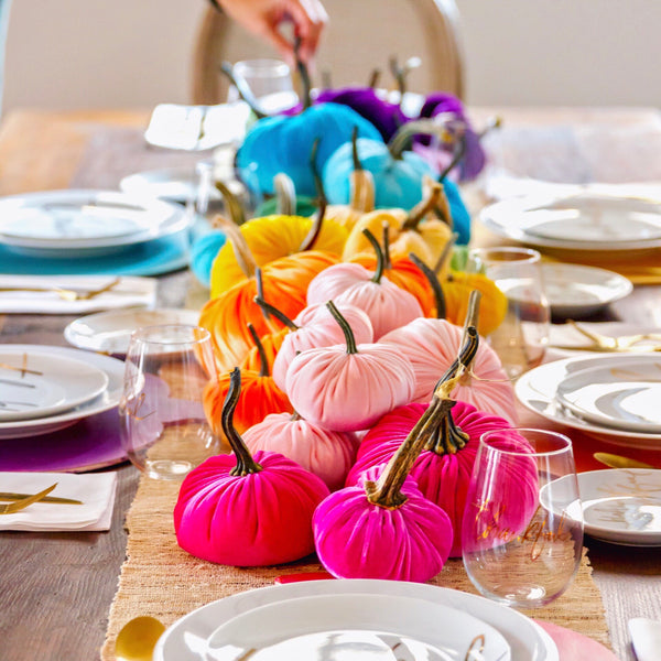 Rainbow Velvet Pumpkin - Carrie Colbert Collection