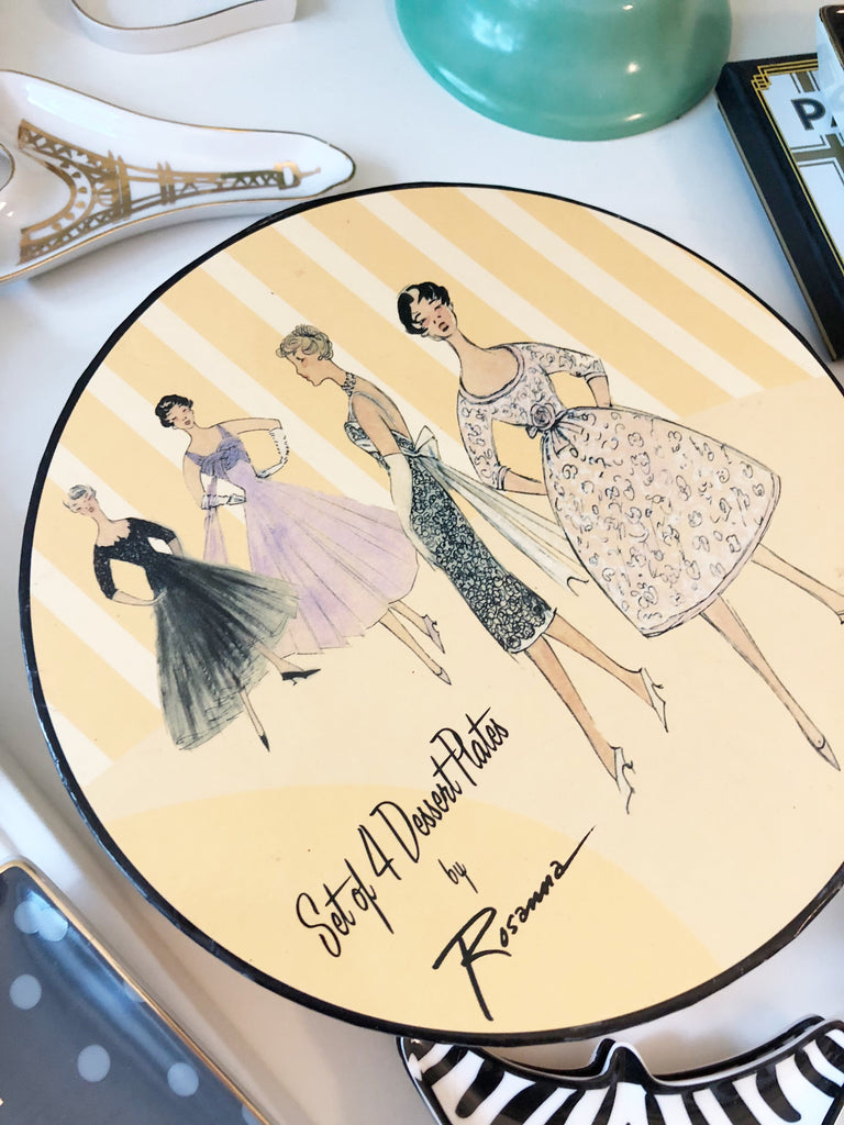 Fashion Dessert plates (set of 4)