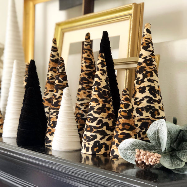 Leopard Velvet trees (set of 3)